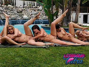 Aline's Poolside Lesbian Orgy